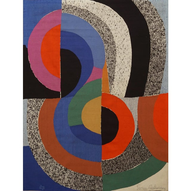 """Modern Tapestry Designed by Sonia Delaunay, Woven by Pierre Daquin - """"Hippocampe"""" For Sale - Image 6 of 6"""