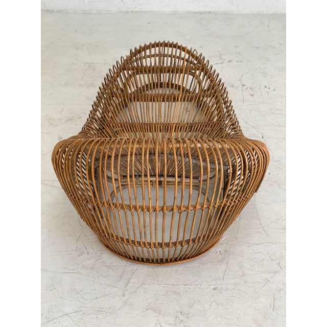 1970s Vintage Franco Albini Bamboo Chaise Lounge For Sale - Image 5 of 6