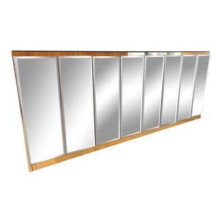Ello Smoky Mirror Credenza Cabinet For Sale