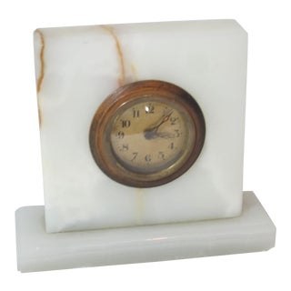 Art Deco Onyx Clock For Sale