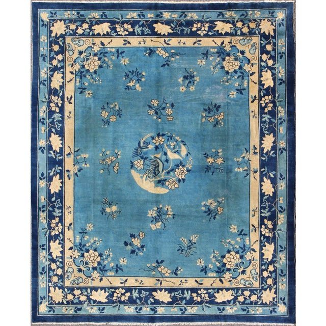 Early 20th Century Antique Chinese Peking Rug - 9′10″ × 11′8″ For Sale - Image 9 of 9