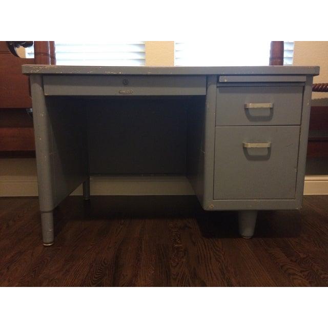 Vintage Blue McDowell & Craig Tanker Desk - Image 2 of 6