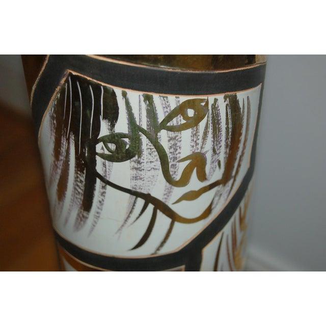 1950s Marbro Italian Porcelain Floor Lamp Gold For Sale - Image 5 of 12