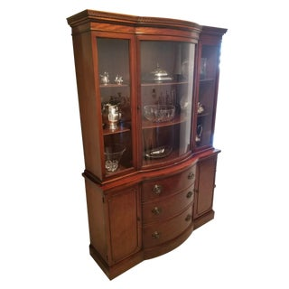 20th Century Traditional Mahogany and Glass China Display Cabinet For Sale