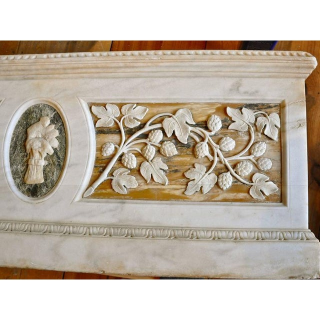 Grand Tour Early 19th Century Carved Roman Grand Tour Marble Planter For Sale - Image 3 of 5