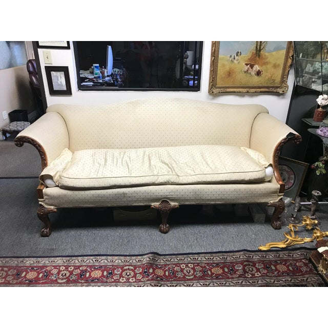 American Chippendale Style Carved Walnut Settee For Sale - Image 12 of 12