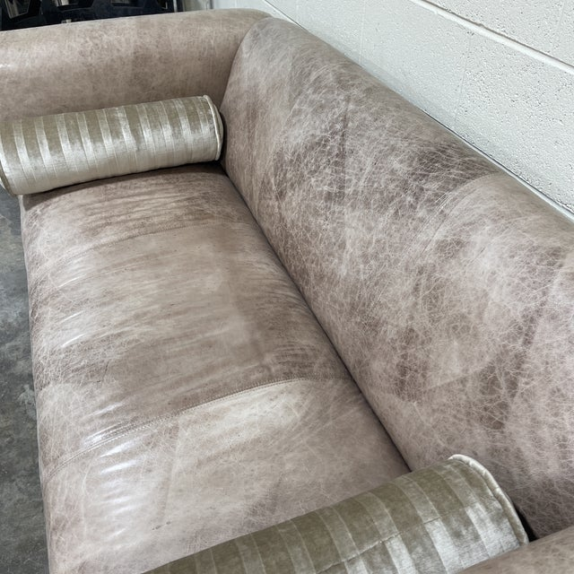 1990s Ralph Lauren Style Cowboy Leather Sofa For Sale - Image 5 of 11