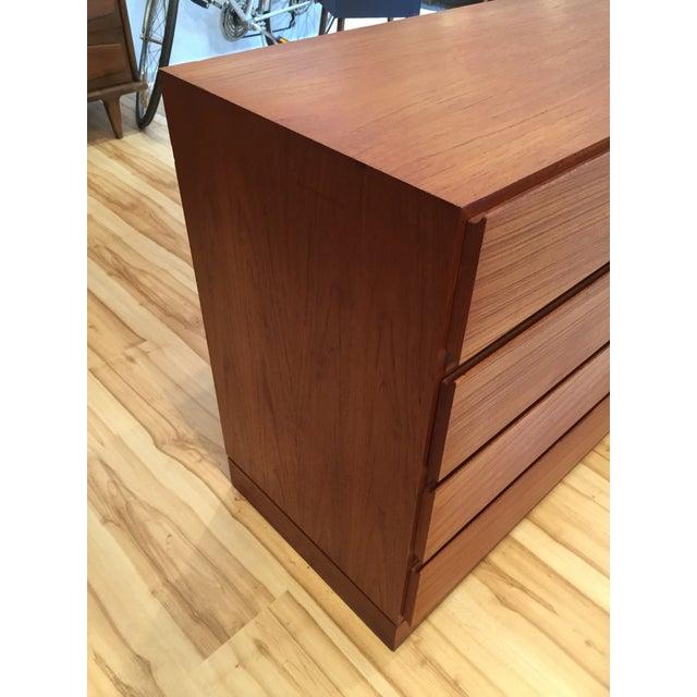 Mid Century Danish Modern Teak Dresser - Image 6 of 7