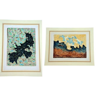 Mid Century Impressionist Colorful Monotypes by Georges-Armand Masson - a Pair For Sale