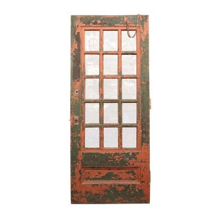 Vintage Mid-Century Painted Wooden Door For Sale