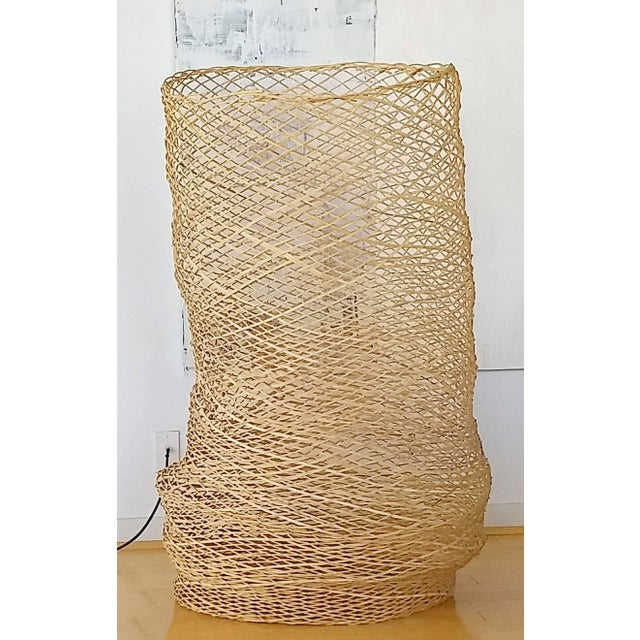 Early 21st Century Contemporary Linda Kelly Contemporary Woven Basket Standing Floor Art Sculpture For Sale - Image 5 of 7