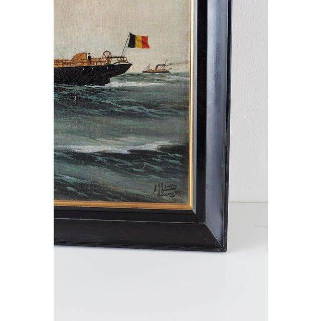 Steamship Willy Alexander by Alfred Jensen, 1909