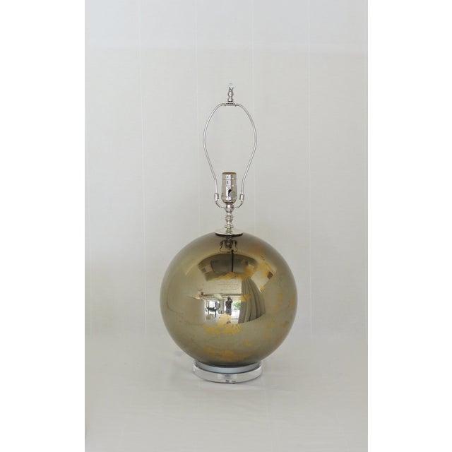 Bronzed Mercury Glass Globe Lamp - Image 3 of 6