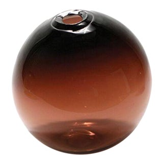 "SkLO Float Glass Vessel 6"" - Plum For Sale"