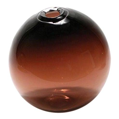 "SkLO Float Glass Vessel 6"" - Plum For Sale"