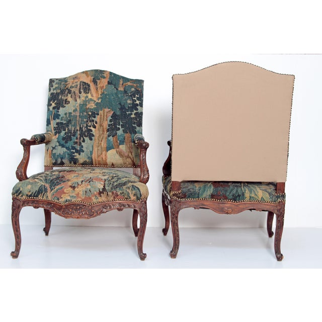Pair of Period Louis XV Fauteuils - Image 5 of 9