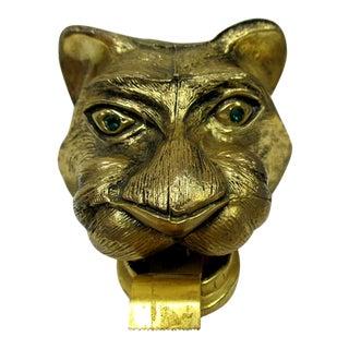 Vintage Gold Metal Tiger Office Tape Dispenser For Sale