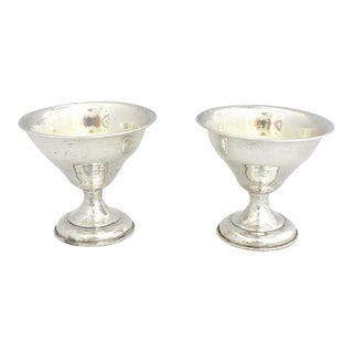 Sterling Candy/Ice-Cream Cups With Monogram F.C.B. - a Pair For Sale