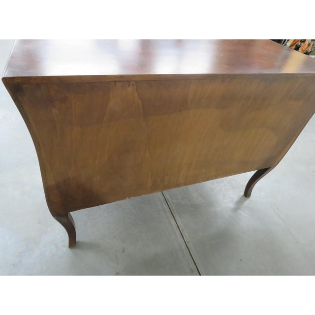 Brown Italian Louis XV Style Olivewood Commode For Sale - Image 8 of 10