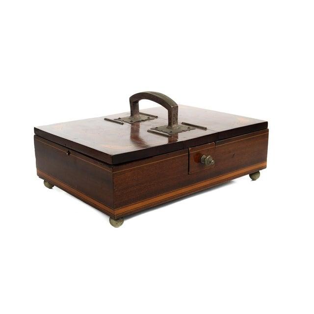 Wood 19th Century Unusual English Gentleman Box For Sale - Image 7 of 9