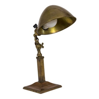 Arts & Crafts Hubbell Articulating Brass & Copper Desk Lamp For Sale