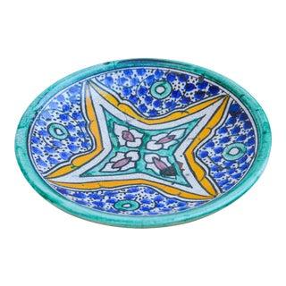 Antique Moroccan Ceramic Plate For Sale