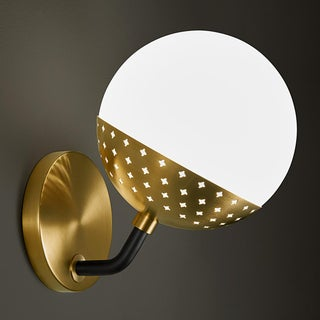 Opal Globe Wall Light in Brushed Brass Preview