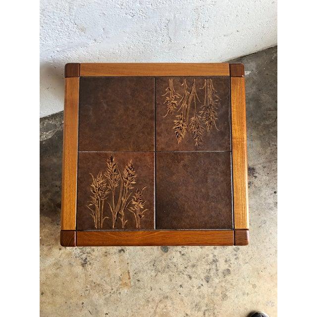 Danish Modern Vintage Gangso Mobler Mid-Century Danish Modern Tile Top Side Table For Sale - Image 3 of 8