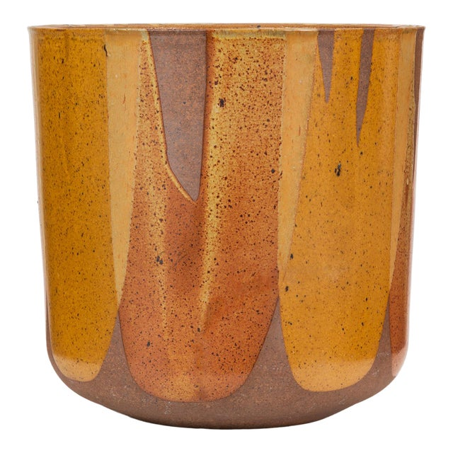 Malcolm Leland Lt-24 Flame-Glazed Planter for Architectural Pottery For Sale
