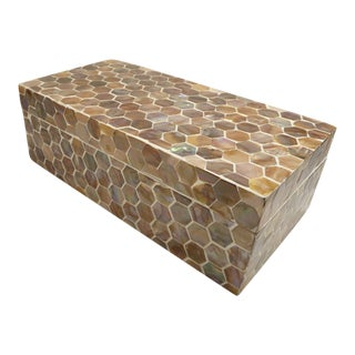 Beach Chic Mother of Pearl Storage Box