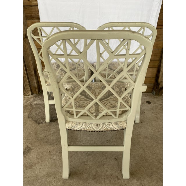 2010s Clive Daniel Fretwork Chairs - Set of 3 For Sale - Image 5 of 13