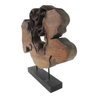 """""""Dawn"""" Carved Wood Sculpture For Sale"""