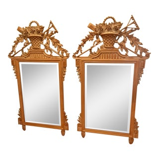 LaBarge French Garden Harvest Mirrors - a Pair For Sale