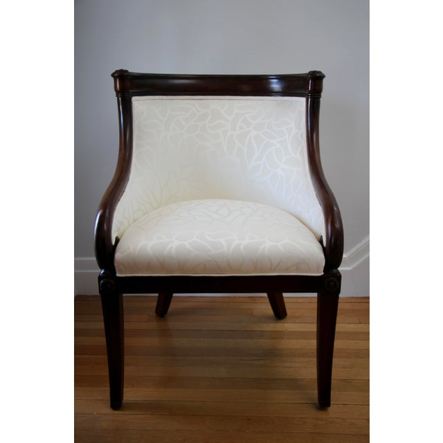 Empire Empire Tub Chair, France 19th Century For Sale - Image 3 of 7