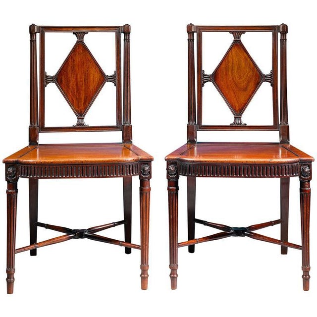 George III Mahogany Hall Chairs - A Pair For Sale In New Orleans - Image 6 of 6