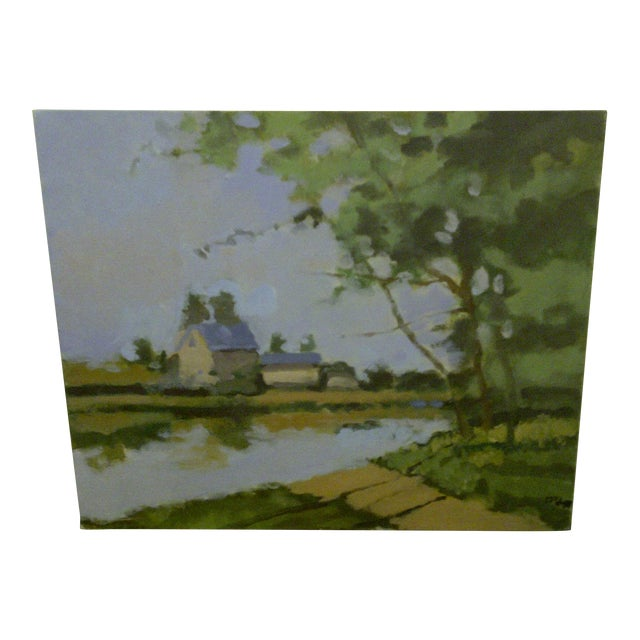 """The Farm"" Original Painting by Frederick McDuff For Sale"