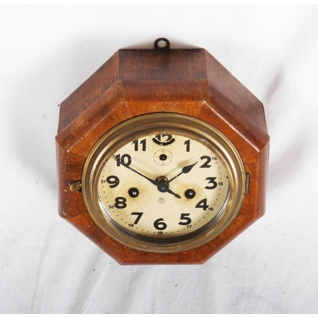 Art Deco Wall Clock by Junghans For Sale - Image 4 of 6