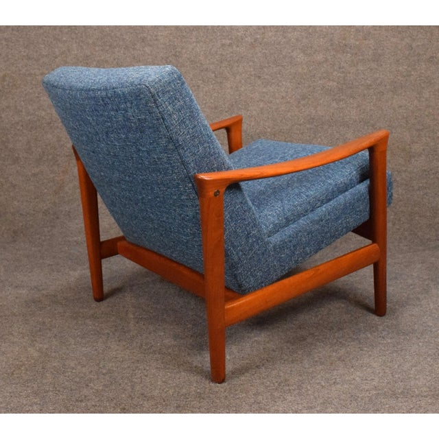 1960s Vintage Danish Erik Wortz for Bröderna Andersson Teak Lounge Chair For Sale In San Diego - Image 6 of 11
