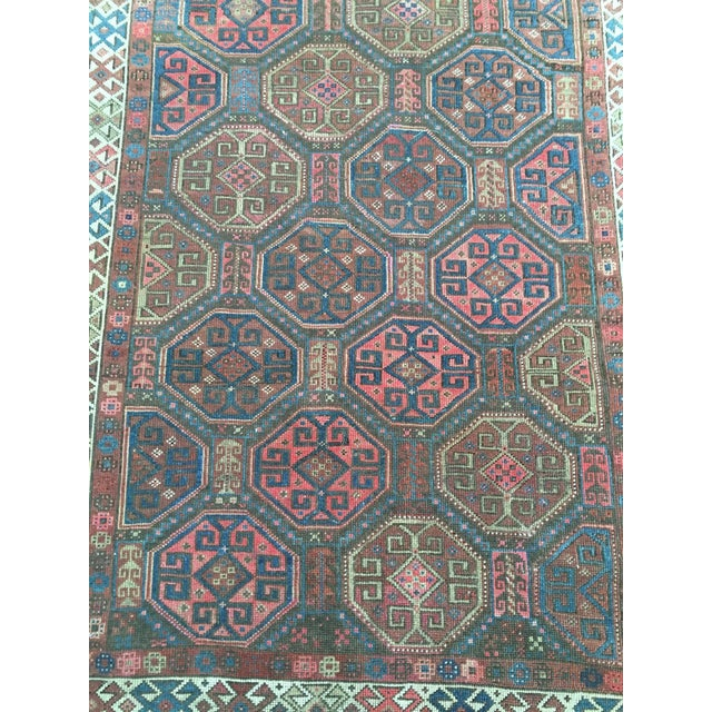 "Antique Tribal Rug 6'10"" X 3'5"" - Image 4 of 8"