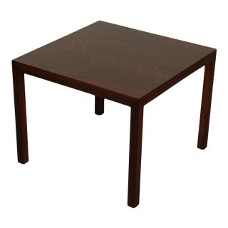 Intrex Mid Century Modern Rosewood 32 inch Square Side Table For Sale