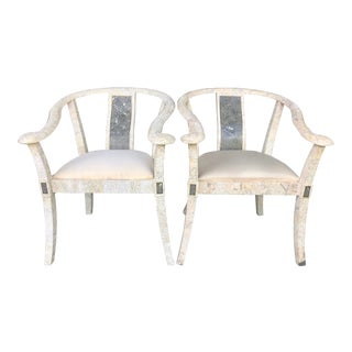 Pair Maitland Smith Armchairs For Sale