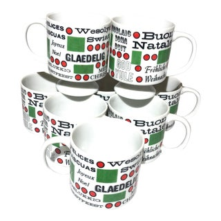 Mid 20th Century Holt Howard Mid-Century International Christmas Mugs - Set of 8 For Sale