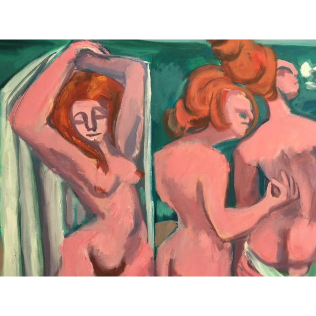 """George Conrand """"The Bathers"""" Oil on Canvas - Image 3 of 7"""