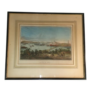 Early 19th Century Lithograph of Boston (Deuxieme Vue De Boston) by Le Breton, Framed For Sale