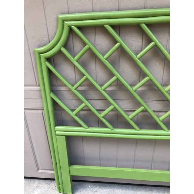 Wood Henry Link King Size Rattan Headboard For Sale - Image 7 of 8