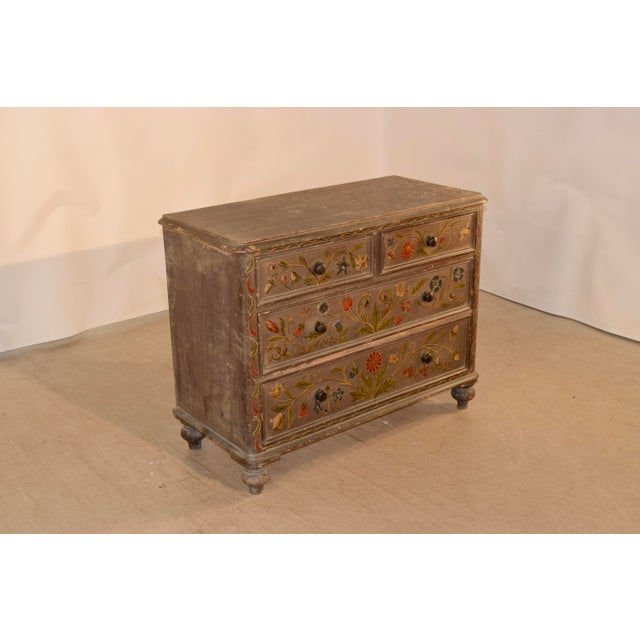 Victorian 19th Century Painted Chest of Drawers For Sale - Image 3 of 10