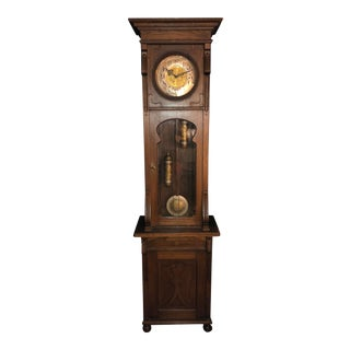 Antique German Tall/Long Case Hall Clock/Grandfather Clock by Lfs For Sale