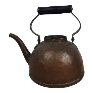 Antique Hand Hammered Copper Tea Pot