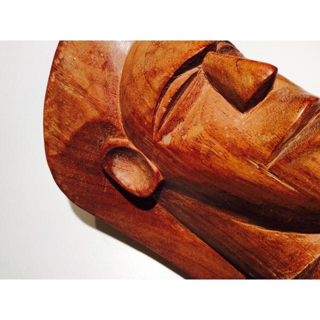 Vintage Fiji Vesi Wood Sculpted Bust For Sale In New York - Image 6 of 9