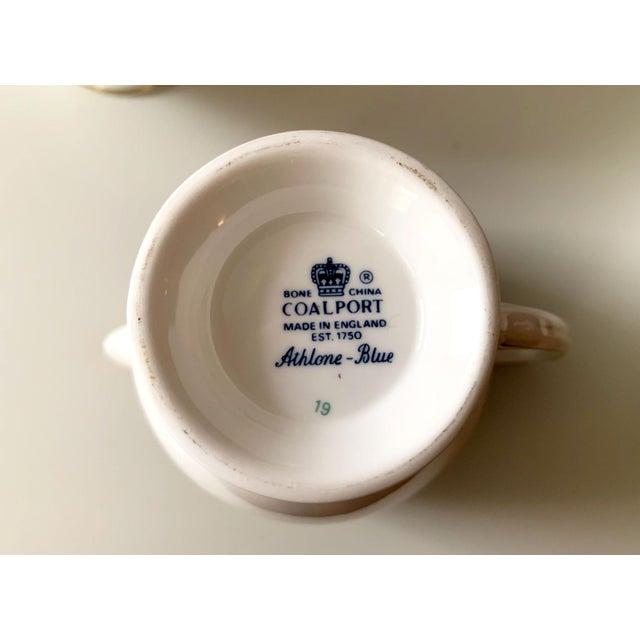 White Athlone Blue and Gold Coalport China Tea Service - Set of 10 For Sale - Image 8 of 9